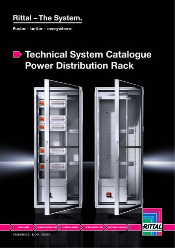 Technical System Catalogue Power Distribution Rack