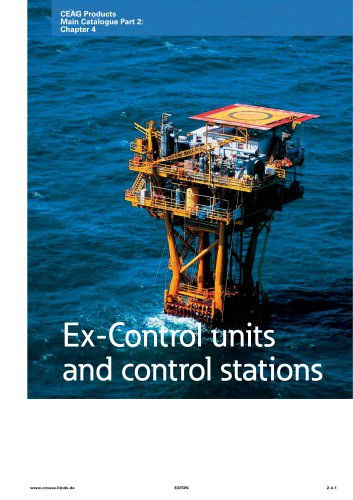 Ex-Control units and control stations
