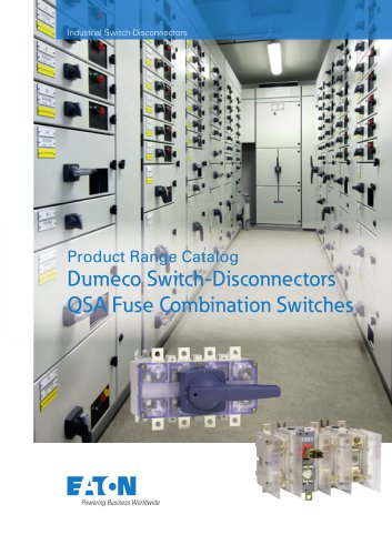 Product Range Catalog Dumeco Switch-Disconnectors QSA Fuse Combination Switches