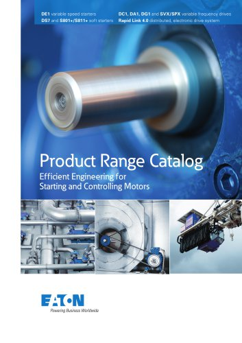 Product Range Catalog  Efficient Engineering for Starting and Controlling Motors