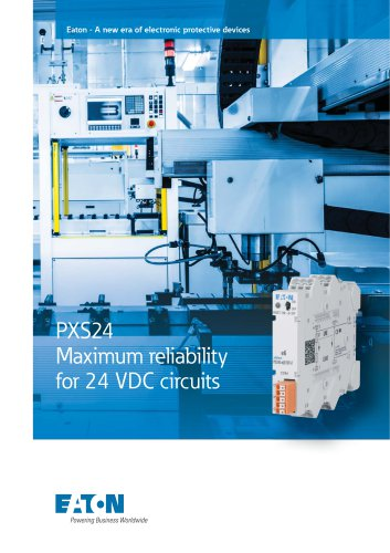 PXS24 Maximum reliability  for 24 VDC circuits