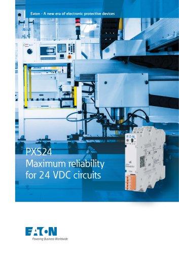 PXS24 Maximum reliability  for 24 VDC circuits