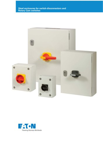 Steel enclosures for switch-disconnectors and Rotary Cam switches brochure
