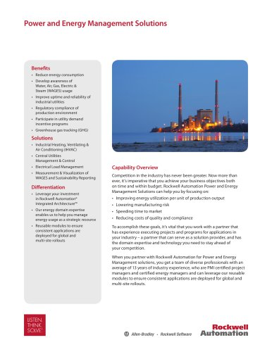 Power and Energy Management Solutions