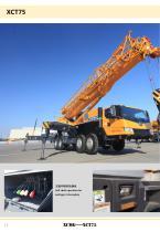 New XCMG truck crane 75 ton hydraulic mobile jib crane XCT75 - 12