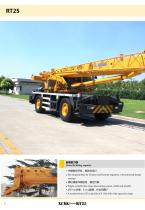 XCMG 25 Ton Rough Terrain Crane RT25 Swing-away Jib, suitable for lifting operation in oilfields, mines, road and bridge construction, etc. - 6