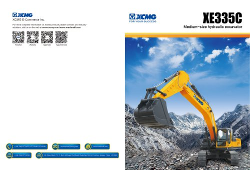 XCMG 33Ton Medium-Size Hydraulic Excavator XE335C