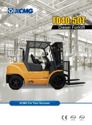 XCMG 5 ton diesel forklift truck FD50T