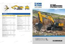 XCMG 70 ton Large Hydraulic Crawler Excavator XE700D - 1