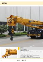 XCMG 70 ton rough terrain crane RT70U with CE - 6