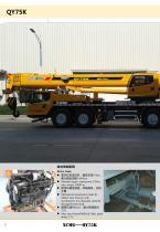 XCMG 75 Ton Truck Crane QY75K, Max. lifting height is 64m - 8