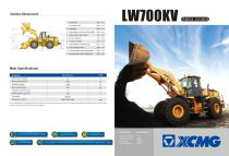XCMG 7Ton Wheel Loader LW700KV - 1