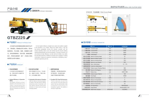 XCMG Electrical Telescopic boom lift 22m Aerial Work Platform GTBZ22S