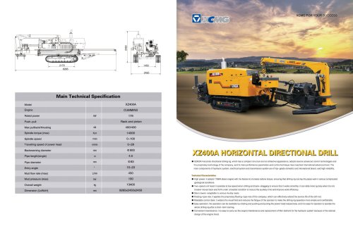 XCMG Official XZ400 horizontal directional drilling rig (HDD)