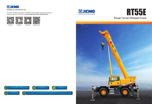 XCMG  truck crane RT55E construction