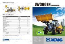 XCMG wheel loader 3 ton front end loader LW300FN - 1