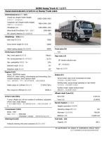 XGA3310D2KE XCMG 48 ton 371HP/24m3 8*4 dump truck
