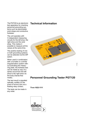 Technical information PGT120