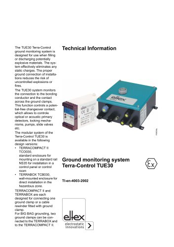 Technical information TUE30 Terracompact