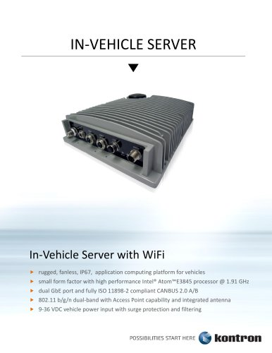 IN-VEHICLE SERVER