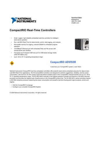 CompactRIO Real-Time Controllers