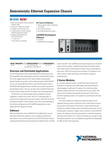 NI 9144 8-Slot Deterministic Ethernet Chassis for C Series Modules