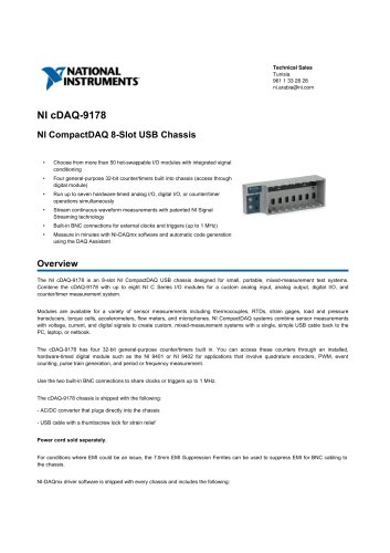 NI_cDAQ-9178 - NATIONAL INSTRUMENTS - PDF Catalogs