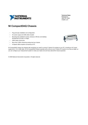 NI CompactDAQ Chassis