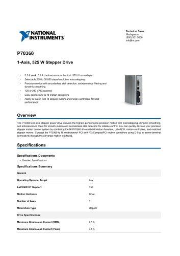 P70360 1-Axis, 525 W Stepper Drive