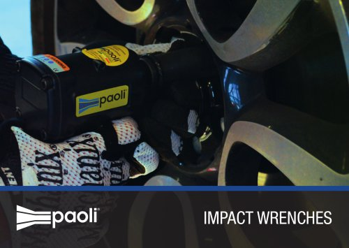 2015 - Paoli Impact Wrenches Brochure