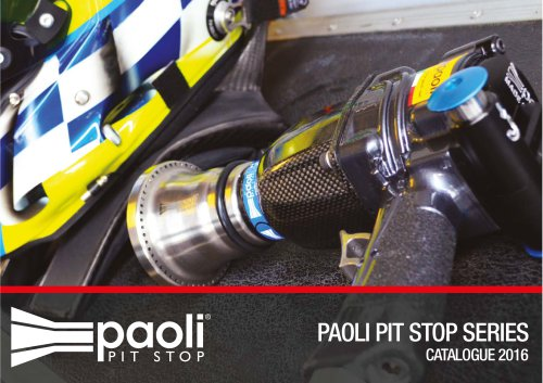 2016 - Paoli Pit Stop Series Catalogue