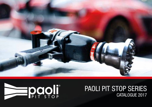 PAOLI PIT STOP SERIES CATALOGUE 2017