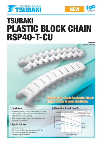 Tsubaki Plastic Block Chain RSP40-T-CU