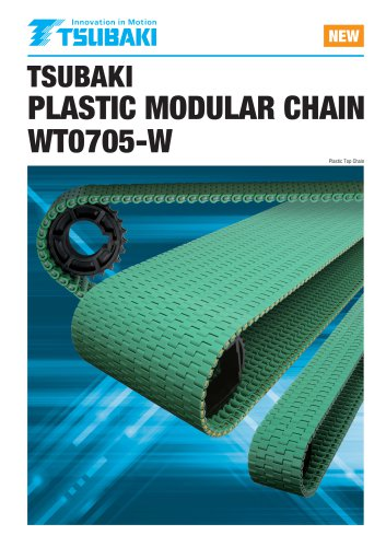 Tsubaki Plastic Modular Chain WT0705-W