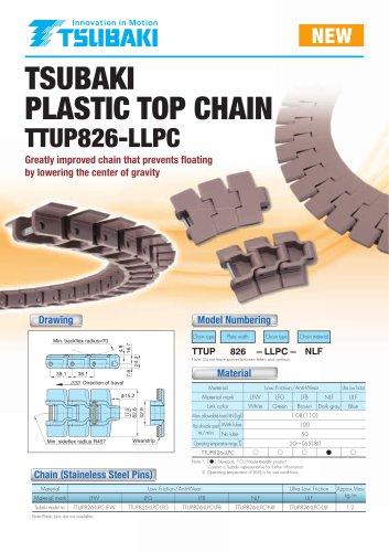 Tsubaki Plastic Top Chain TTUP826-LLPC
