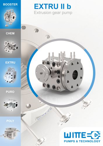 EXTRU II Gear pump for extrusion