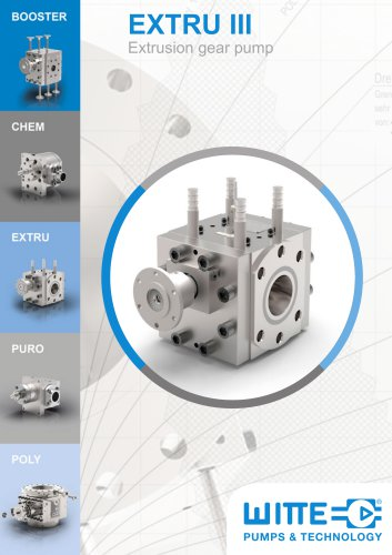 EXTRU III Extrusion gear pump