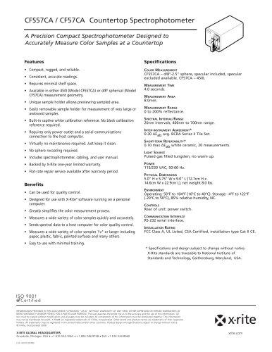 CF57/CA 45°/ 0° Countertop Spectrophotometer