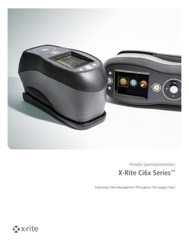 X-Rite Ci6x Series™ Portable Spectrophotometers