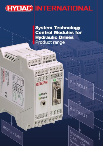 Control Modules for Hydraulic Drives - Product range
