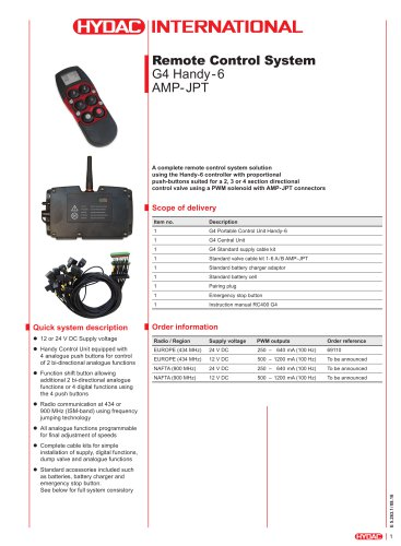 G4 Handy-6 AMP-JPT Remote Control System