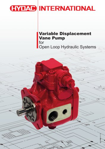 Variable Displacement Vane Pumpfor Open Loop Hydraulic Systems