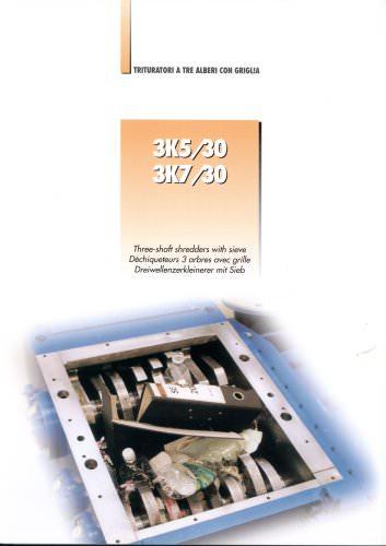3 Shaft Shredders mod. 3K 30 HP