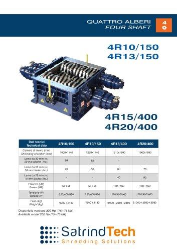 FOUR SHAFT-SHREDDER-4R 150-HP SERIES-SATRINDTECH SRL
