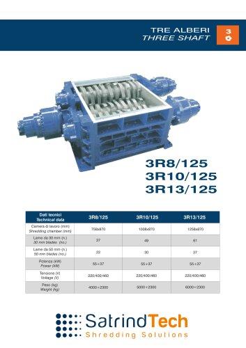 THREE SHAFT-SHREDDER-3R 125-HP SERIES-SATRINDTECH SRL