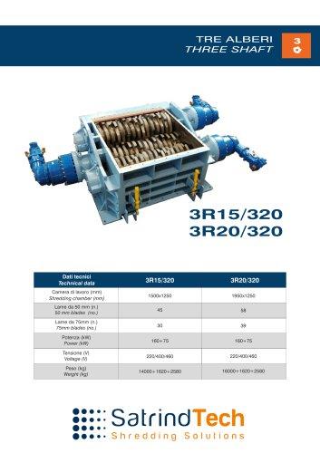THREE SHAFT-SHREDDER-3R 320-HP SERIES-SATRINDTECH SRL