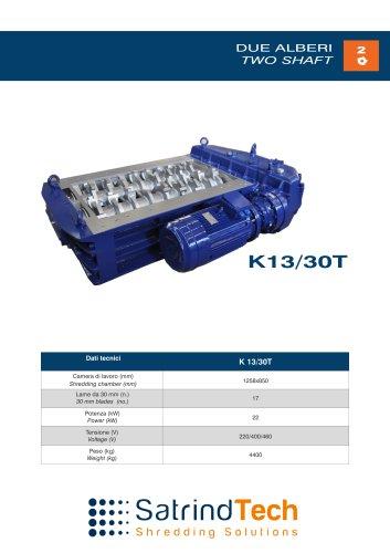 TWO SHAFT-CRUSHER-K13-30T SERIES-SATRINDTECH SRL