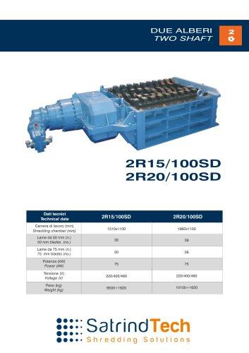 TWO SHAFT-SHREDDER-2R 100HP-SD SERIES-SATRINDTECH SRL