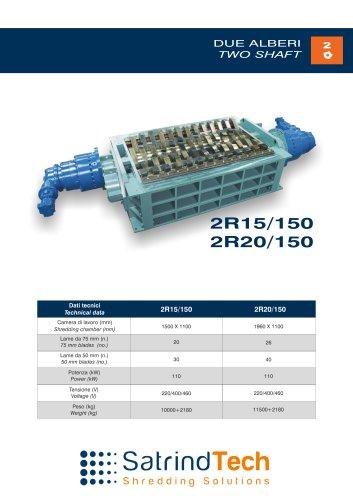 TWO SHAFT-SHREDDER-2R 150HP SERIES-SATRINDTECH SRL