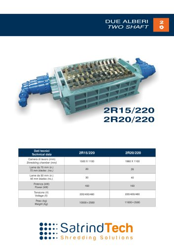 TWO SHAFT-SHREDDER-2R 220HP SERIES-SATRINDTECH SRL